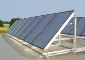 Flachdach-Solaranlage
